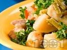 Рецепта Задушено свинско месо с картофи и зелен боб